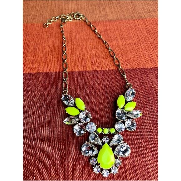 J. Crew Jewelry - Authentic J. Crew Statement Necklace Neon Yellow